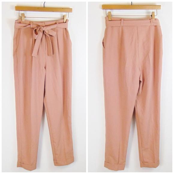 5f029a2140147 ASOS Pants   1day Only Woven Peg Obi Tie Blush Pink   Poshmark